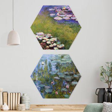 Esagono in Alluminio Dibond - Claude Monet - Ninfee Set
