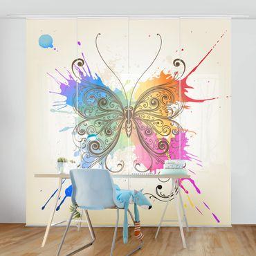 Tende scorrevoli set - Watercolour Butterfly