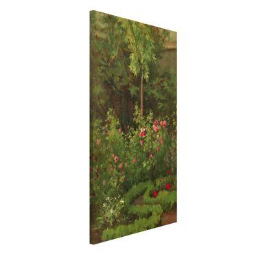 Lavagna magnetica - Camille Pissarro - A Rose Garden - Formato verticale 4:3