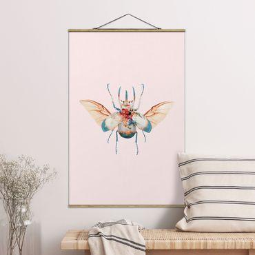 Foto su tessuto da parete con bastone - Vintage Beetle - Verticale 3:2