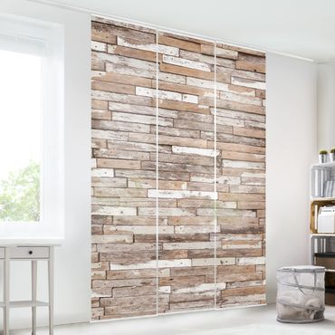 Tende scorrevoli set - Turkey Wood Wall