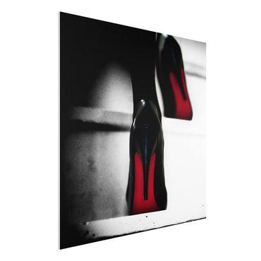 Quadro in forex - Tacchi alti in rosso - Quadrato 1:1