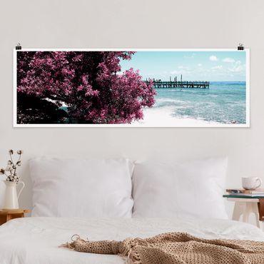 Poster - Paradise Beach Isla Mujeres - Panorama formato orizzontale