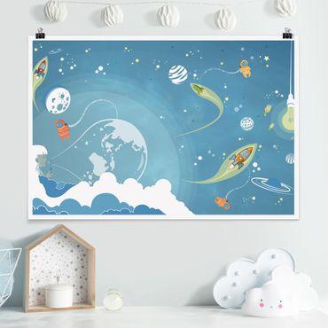 Poster - No.Mw16 variopinto dello spazio Trambusto - Orizzontale 2:3
