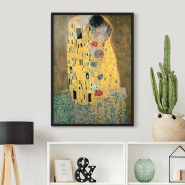Poster con cornice - Gustav Klimt - The Kiss - Verticale 4:3