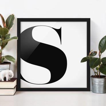 Poster con cornice - Antiqua Letter S - Quadrato 1:1