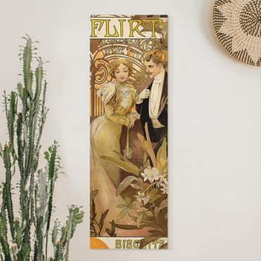 Quadri su tela - Alfons Mucha - Pubblicita Poster For Flirt Biscuits