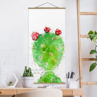 Foto su tessuto da parete con bastone - Cactus Con Versetti della Bibbia IV - Verticale 2:1