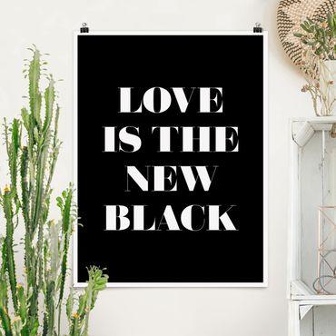 Poster - L'amore è il nuovo nero - Verticale 4:3