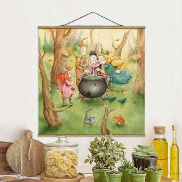 Foto su tessuto da parete con bastone - Frida At The Witches Meeting - Quadrato 1:1