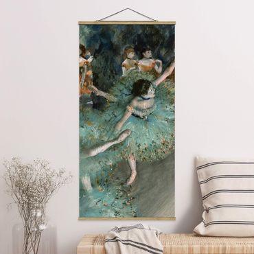 Foto su tessuto da parete con bastone - Edgar Degas - Verde Ballerini - Verticale 2:1
