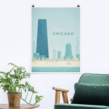 Poster - Poster viaggio - Chicago - Verticale 4:3