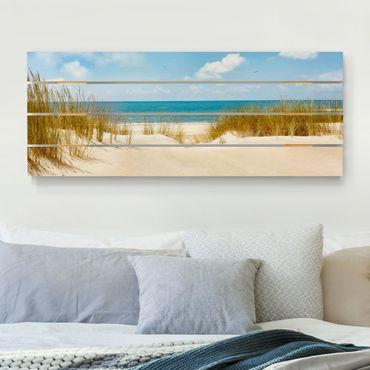 Stampa su legno - Spiaggia sul Mare del Nord - Orizzontale 2:5