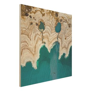 Quadro in legno - Laguna In Israele - Quadrato 1:1
