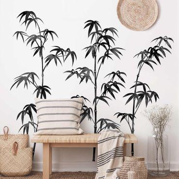 Adesivo murale - Acquerello Bamboo Tree nero