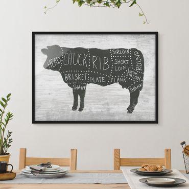 Poster con cornice - Butcher Board - Beef - Orizzontale 3:4