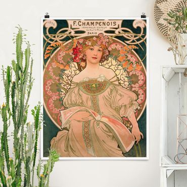Poster - Alfons Mucha - Poster For F. Champenois - Verticale 4:3