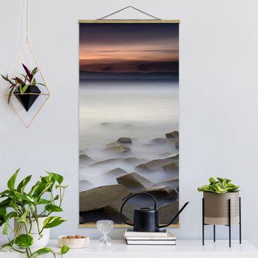 Foto su tessuto da parete con bastone - Tramonto Nella Nebbia - Verticale 2:1
