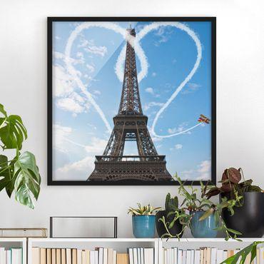 Poster con cornice - Paris - City Of Love - Quadrato 1:1