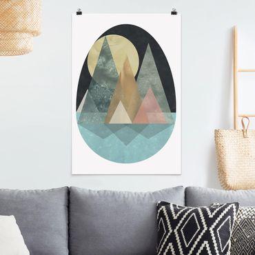 Poster - Paesaggio utopico - Sun - Verticale 3:2