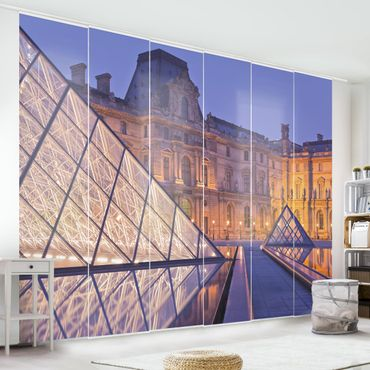 Tende scorrevoli set - Louvre Paris At Night