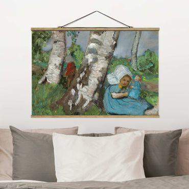 Foto su tessuto da parete con bastone - Paula Modersohn-Becker - Bambino con la bambola - Orizzontale 2:3