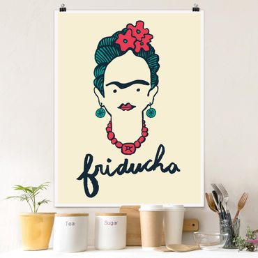 Poster - Frida Kahlo - Friducha - Verticale 4:3