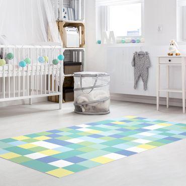Tappeti in vinile - Mosaico colorato parcogiochi - Verticale 1:2