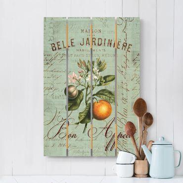 Stampa su legno - Shabby Chic Collage - Arancione - Verticale 3:2