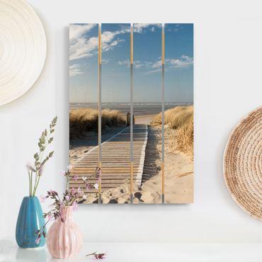 Stampa su legno - Spiaggia del Mar Baltico - Verticale 3:2