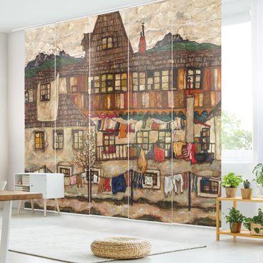 Tende scorrevoli set - Egon Schiele - House With Drying Laundry