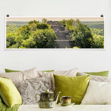 Poster - Piramide di Calakmul - Panorama formato orizzontale