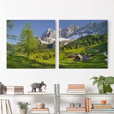 Stampa su tela 2 parti - Styria Alpine Meadow - Quadrato 1:1