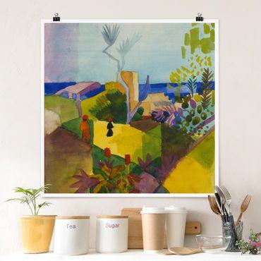 Poster - August Macke - Paesaggio By The Sea - Quadrato 1:1