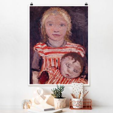 Poster - Paula Modersohn-Becker - Ragazza con la bambola - Verticale 4:3