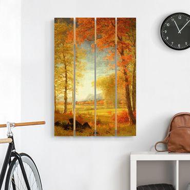 Stampa su legno - Albert Bierstadt - Autunno in Oneida County, New York - Verticale 3:2