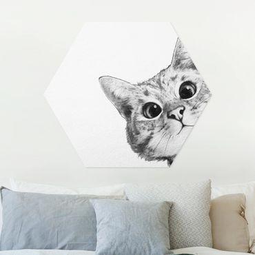 Esagono in forex - Illustrazione Cat Disegno Nero Bianco
