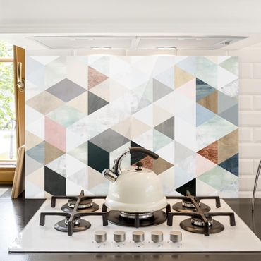Paraschizzi in vetro - Watercolor Mosaic With Triangles I