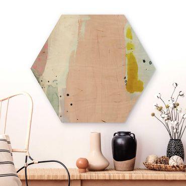 Esagono in legno - Offuscata Alba II