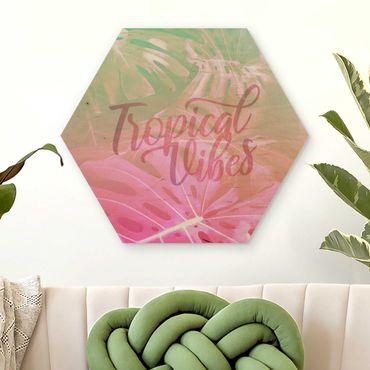 Esagono in legno - Rainbow - Tropical Vibes