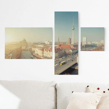 Stampa su tela 3 parti - Berlin morning - Collage 2
