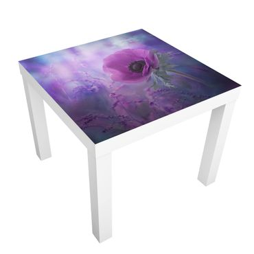 Tavolino design Anemones Bloom In Violet