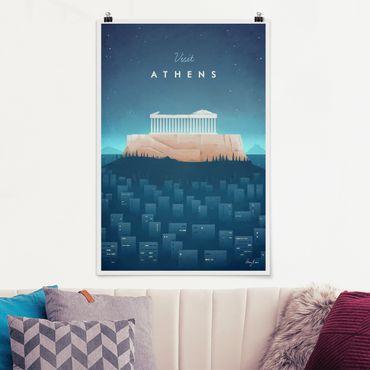 Poster - Poster di viaggio - Atene - Verticale 3:2