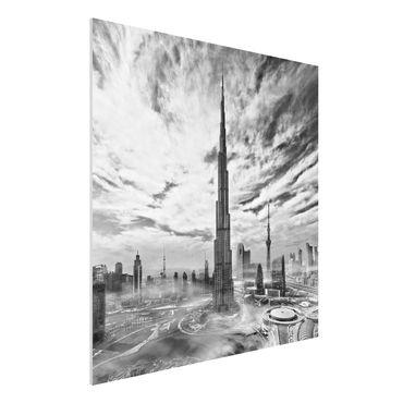 Quadro in forex - Dubai Super Skyline - Quadrato 1:1