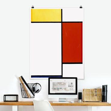 Poster - Piet Mondrian - Composizione I - Verticale 4:3