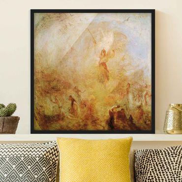 Poster con cornice - William Turner - Angel In Front Of The Sun - Quadrato 1:1