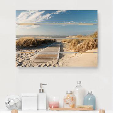 Stampa su legno - Spiaggia del Mar Baltico - Orizzontale 2:3