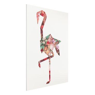 Stampa su Forex - origami Flamingo - Verticale 4:3