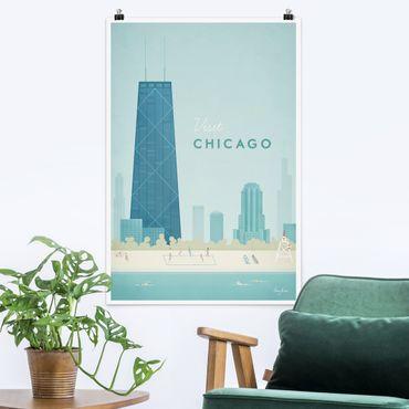 Poster - Poster viaggio - Chicago - Verticale 3:2