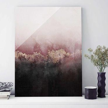 Quadro in vetro - Alba Dorata Rosa - Verticale 4:3